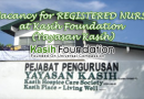 Vacancy for REGISTERED NURSE at Kasih Foundation (Yayasan Kasih)