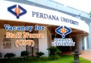 Vacancy for Staff Nurse (CSU) at Perdana University