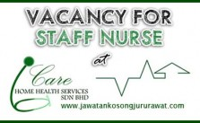 Vacancy for Staff Nurse at I-care Home Health Sdn Bhd