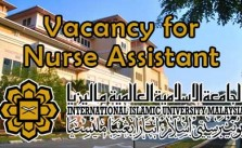 Vacancy for Nurse Assistant at IIUM Kuantan Campus