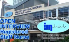 Vacancy for Registered Staff Nurse in Institut Jantung Negara (IJN)