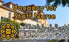 Vacancy for Staff Nurse at IIUM Kuantan Campus