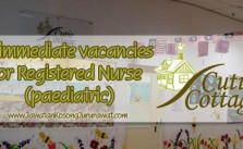 Vacancy for Registered Nurse (Paediatric) at Cutie Cottage Baby Centre