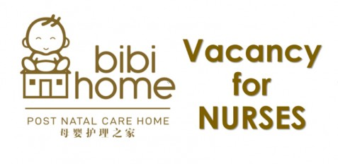 vacancy for nurses at bibi home sdn bhd postnatal care home